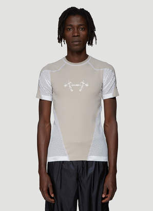BEIGE Gmbh Mesh Panel T-Shirt in