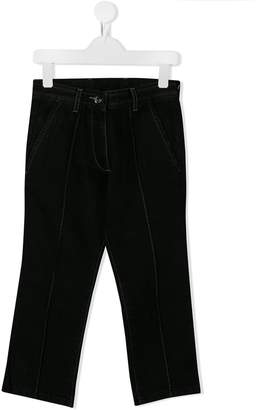 No.21 Kids logo detail trousers
