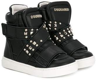 DSQUARED2 studded hi-top sneakers