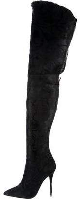 Manolo Blahnik Rihanna x Dominique Over-The-Knee Boots