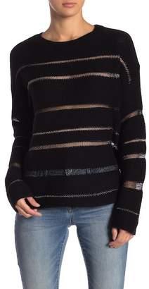 Rails Daphne Metllic Mesh Wool & Cashmere Blend Sweater