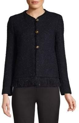 Sandro Woven Tweed Jacket