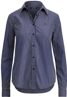 Ralph Lauren Lauren Striped Cotton Shirt $89.50 thestylecure.com