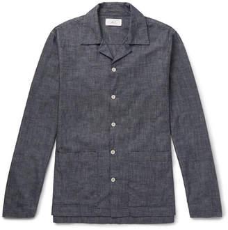 Mr P. Camp-Collar Washed Cotton-Chambray Shirt