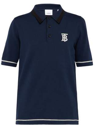 Burberry Hadlow Cotton Polo Shirt - Mens - Navy