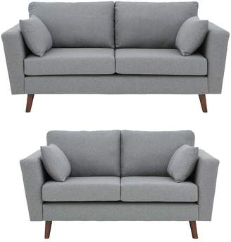 Cavendish Porter Fabric 3 Seater + 2 Seater Sofa Set - Blue or Grey (Buy and SAVE!)