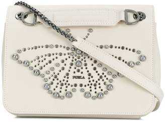 Furla butterfly studded shoulder bag