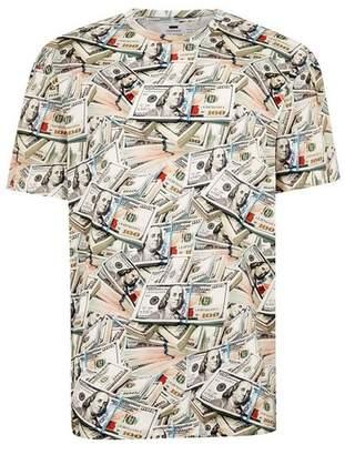 Topman Mens Multi Money Print T-Shirt