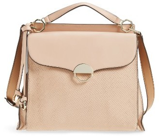 Louise Et Cie Large Sonye Leather Top Handle Crossbody Bag - Pink $298 thestylecure.com