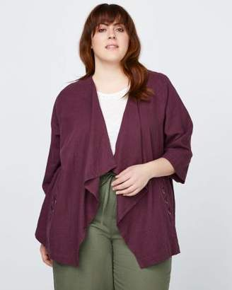Penningtons Cascade Linen Jacket with Lace Detail - In Every Story