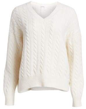 Wool Oversize Cable-Knit Sweater
