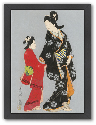 American Flat Americanflat Two Japanese Women In Kimonos By Found Image Press Framed Artwork