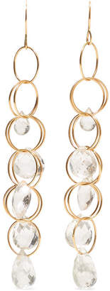 Melissa Joy Manning 14-karat Gold Topaz Earrings - one size