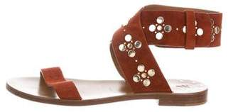 Frye Studded Suede Sandals