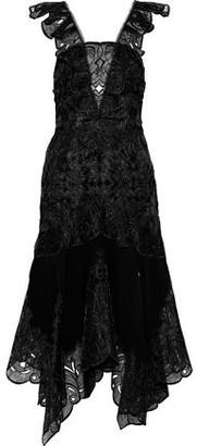 Jonathan Simkhai Broderie Anglaise Organza And Crepe Midi Dress