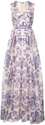 Carolina Herrera patterned gown