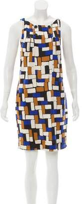 Diane von Furstenberg Printed Sleeveless Shift Dress