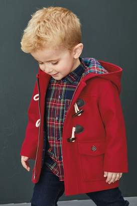 Next Boys Red Duffle Coat (6mths-7yrs) - Red