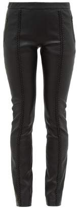 Haider Ackermann Whipstitched Leather Trousers - Womens - Black