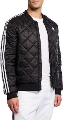 adidas Men's Three-Striped Quilted Jacket