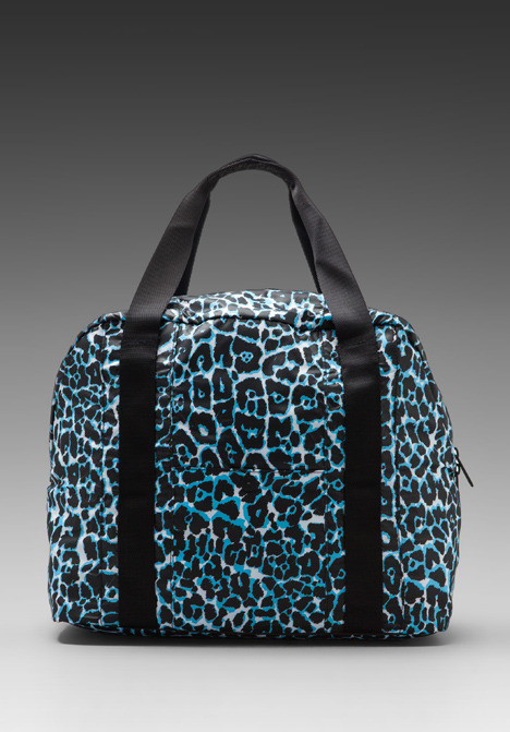 adidas by Stella McCartney Carry-On Bag in Black/White/Water Blue