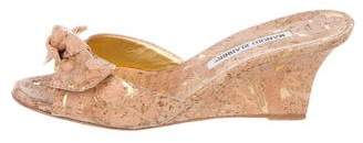 Manolo Blahnik Cork Slide Wedges
