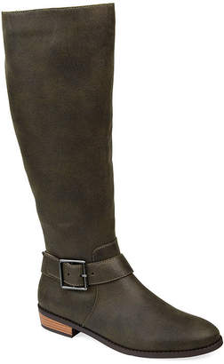 Journee Collection Womens Winona Stacked Heel Riding Boots