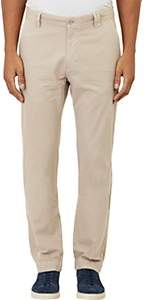 Barneys New York MEN'S TWILL CHINOS-BEIGE, TAN SIZE 38