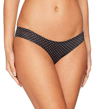 GUESS Women's Brief Boy Short, (White On Black Pois), (Size: Small)
