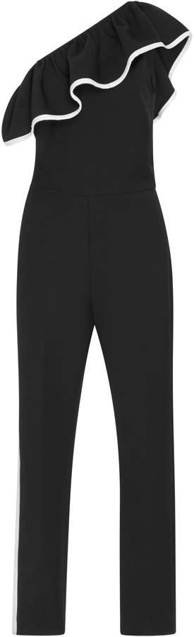 MSGM One-Shoulder Cotton-Blend Jumpsuit