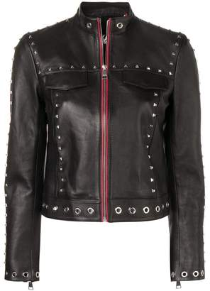 Karl Lagerfeld Studded Leather Jacket
