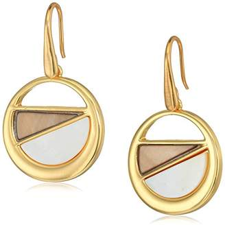 T Tahari Mother-Of-Pearl Disc Drop Earrings