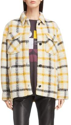 Etoile Isabel Marant Gast Check Wool Blend Jacket