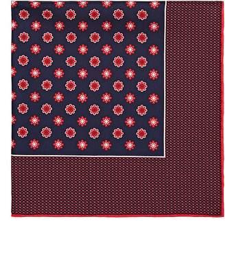 Kiton Men's Floral Silk Twill Pocket Square