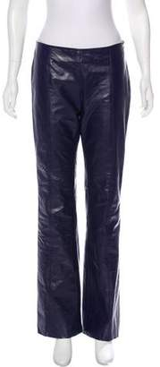 Theory Wide-Leg Leather Pants