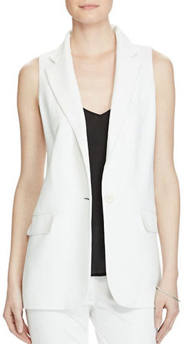 Lauren Ralph Lauren Lauren Ralph Lauren Stretch Crepe One-Button Vest