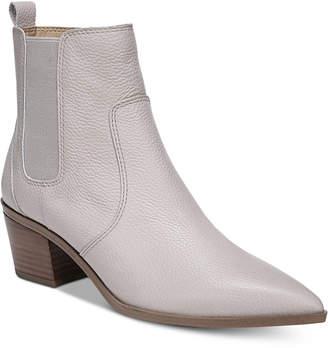 Franco Sarto Sienne Pointed-Toe Block-Heel Booties Women Shoes