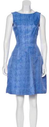 Oscar de la Renta Textured A-Line Dress Textured A-Line Dress