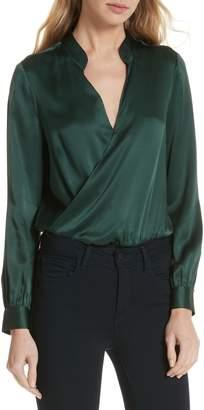 L'Agence Marcella Silk Charmeuse Bodysuit