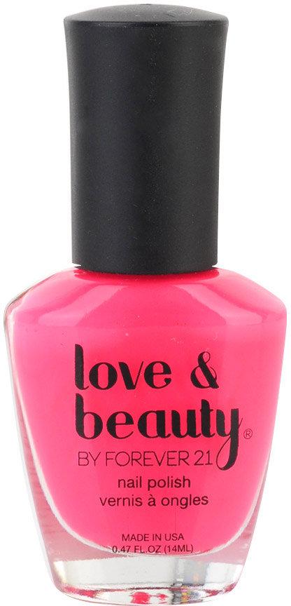 Love 21 Hot Pink Party Nail Polish