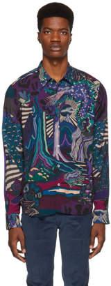 Paul Smith Navy Dreamer Landscape Slim Shirt