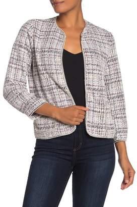 Max Studio Boucle Knit Crop Jacket