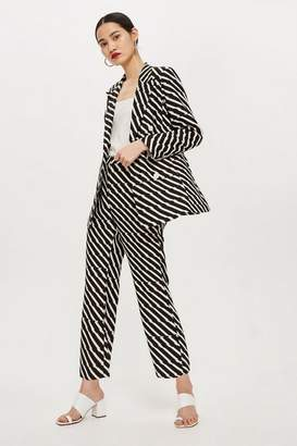 Topshop Womens Zig Zag Kick Flare Trousers