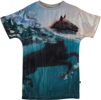 Molo Cyrille Horse in Water Print Tunic Size 3T-12