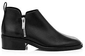 3.1 Phillip Lim Women's Alexa Leather Stacked-Heel Ankle Boots