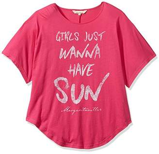 Margaritaville Women's Short Sleeve Relaxed Fit Girls Wanna Have Sun V Neck T-Shirt