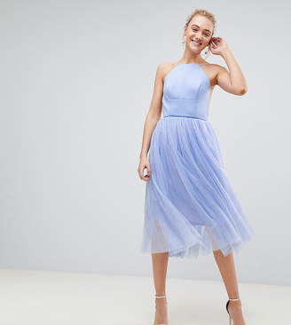 Asos Tall TALL PREMIUM Scuba Pinny Midi Tulle Dress