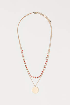 H&M Double-strand Necklace - Red