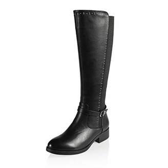 AIIT Women's Fashion Chunky Low Heel Knee High Boot Shoe