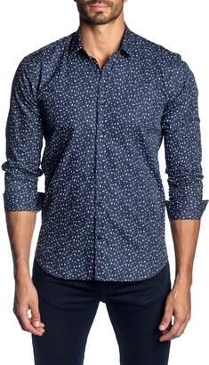 Jared Lang Trim Fit Patterned Sport Shirt